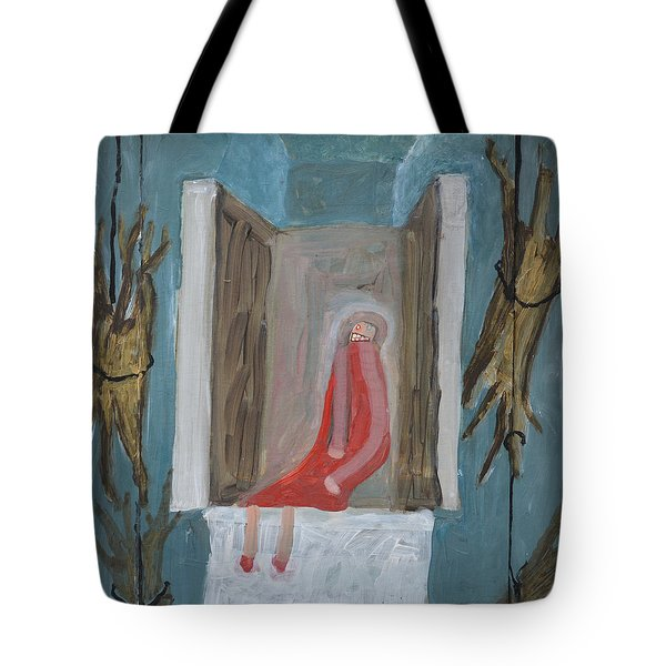 Refrigerator Rock And The King Tote Bag by Nancy Mauerman