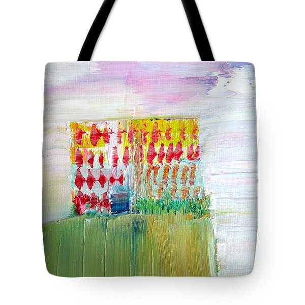 REFUGE on the CLIFF Tote Bag by Fabrizio Cassetta