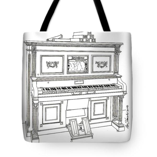 Regina Player Piano Tote Bag by Ira Shander