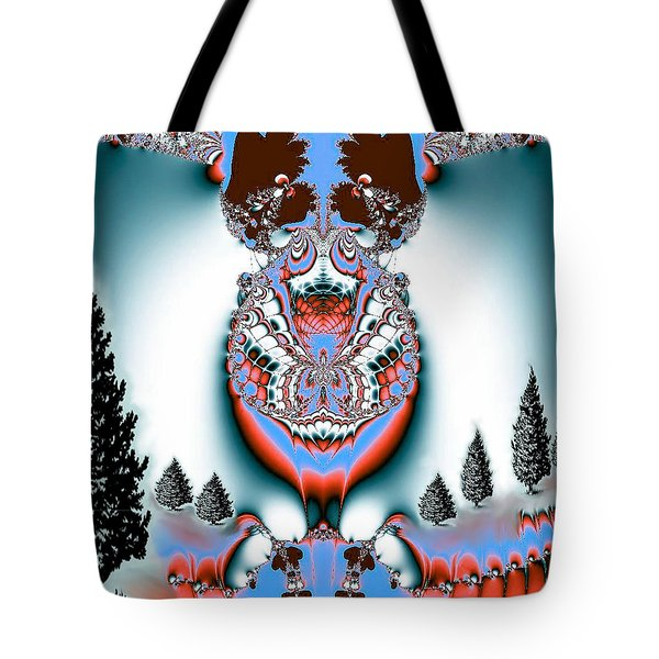Reindeer Blues Tote Bag by Maria Urso