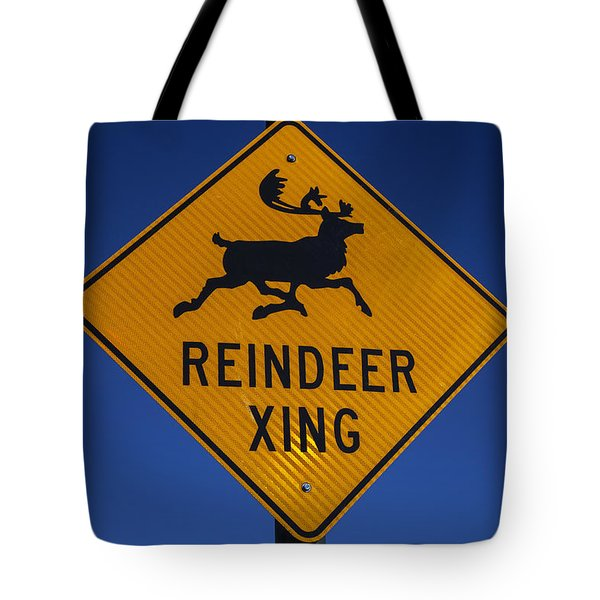 Reindeer Xing Tote Bag by Garry Gay