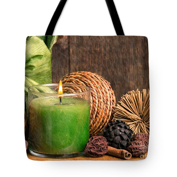 Relaxing Spa candle Tote Bag by Edward Fielding