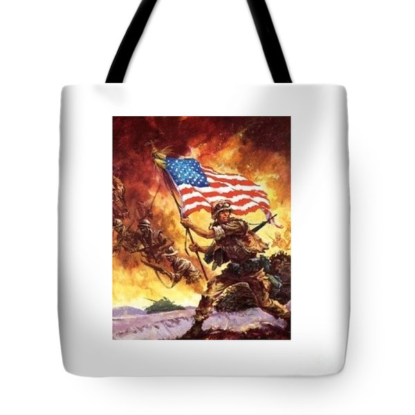 Remember Our Veterans Tote Bag by M and L Creations