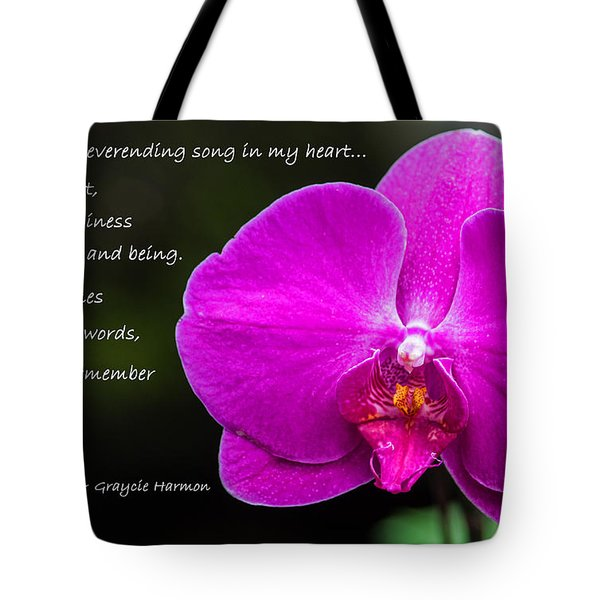 Remember The Tune - Mother's Day Tote Bag by Jordan Blackstone