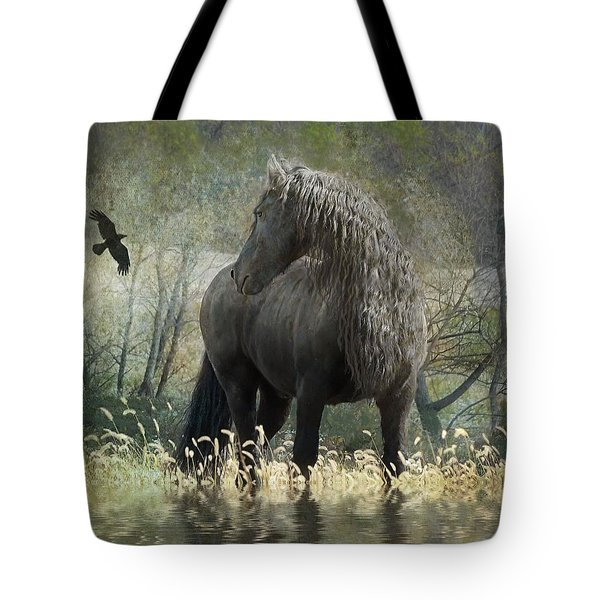 Remme And The Crow Tote Bag by Fran J Scott
