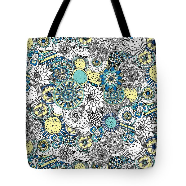 Repeat Print - Floral Burst Tote Bag by Susan Claire