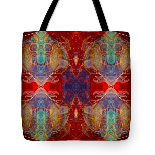 Repeating Realities Abstract Pattern Artwork By Omaste Witkowski Tote Bag by Omaste Witkowski