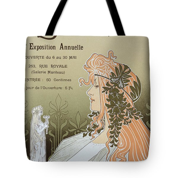 Reproduction Of A Poster Advertising 'schaerbeek's Artistic Circle Tote Bag by Livemont
