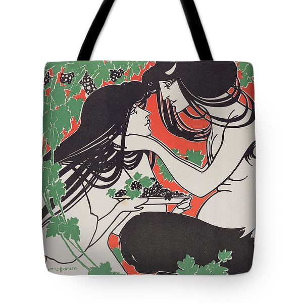 Reproduction Of A Poster Advertising 'when Hearts Are Trumps' By Tom Hall  Tote Bag by William Bradley