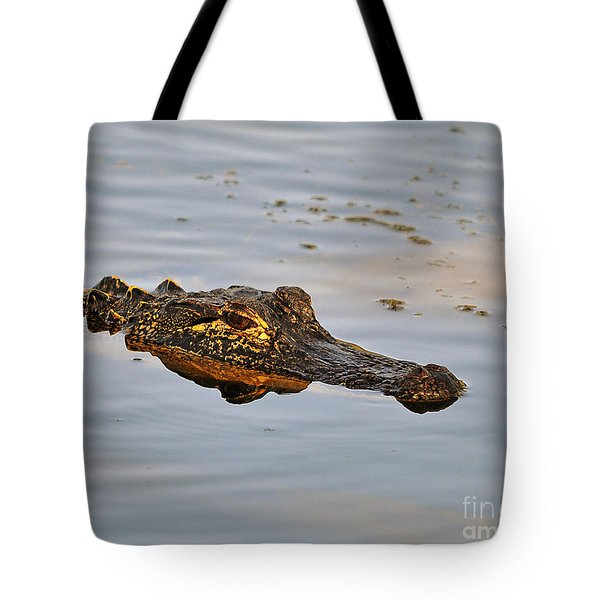 Reptile Reflection Tote Bag by Al Powell Photography USA