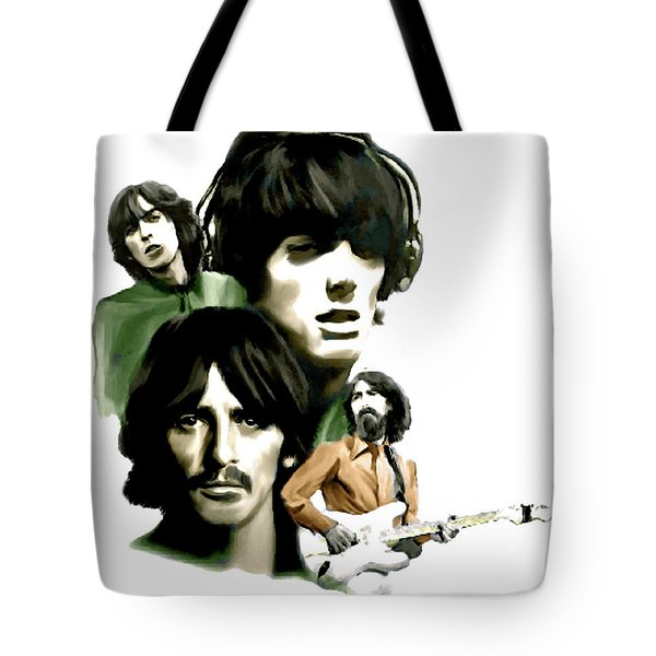 Requiem George Harrison Tote Bag by Iconic Images Art Gallery David Pucciarelli