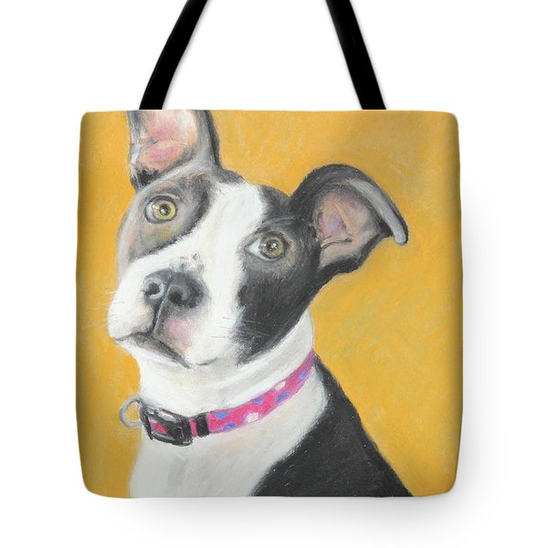 Rescued Pit Bull Tote Bag by Jeanne Fischer