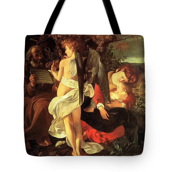 Rest On The Flight Into Egypt Tote Bag by Caravaggio