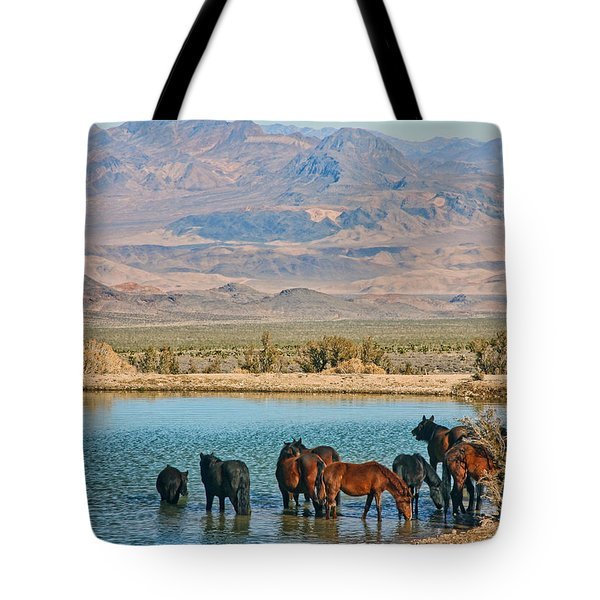 Rest Stop Tote Bag by Tammy Espino