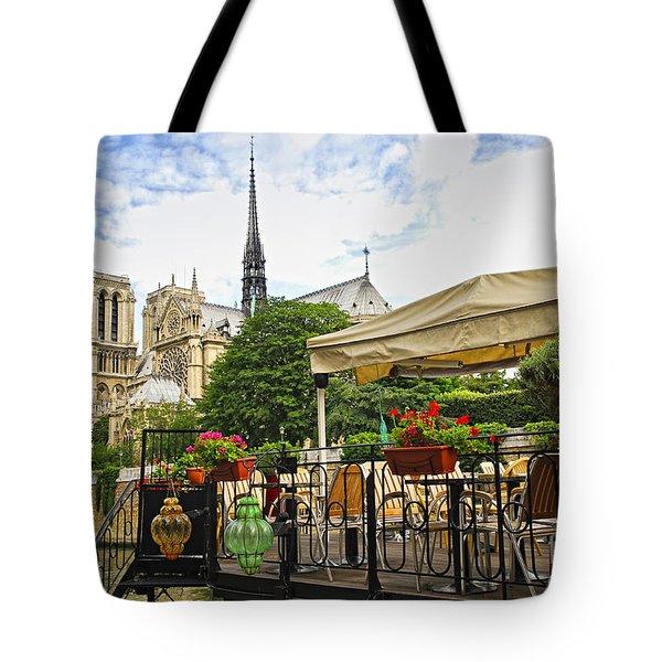 Restaurant on Seine Tote Bag by Elena Elisseeva