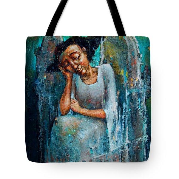 Resting Angel Tote Bag by Michal Kwarciak