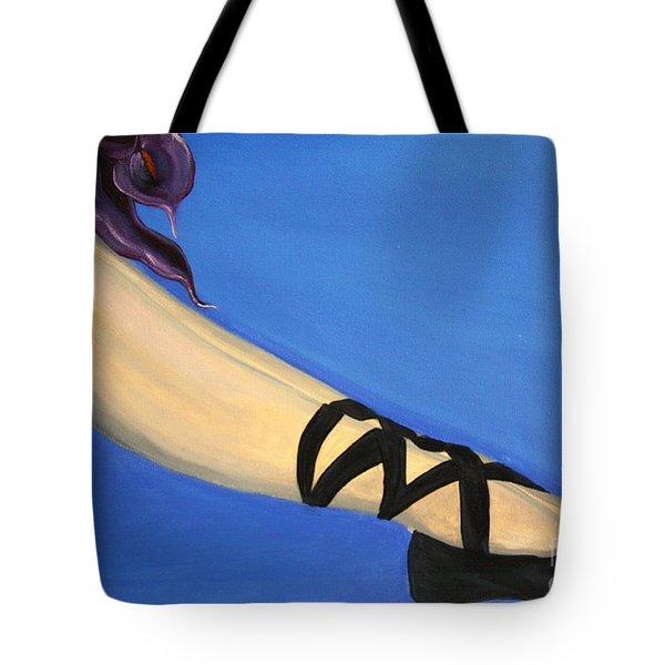 Resting Ballerina Tote Bag by Jolanta Anna Karolska