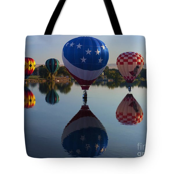 Resting on the Water Tote Bag by Mike  Dawson