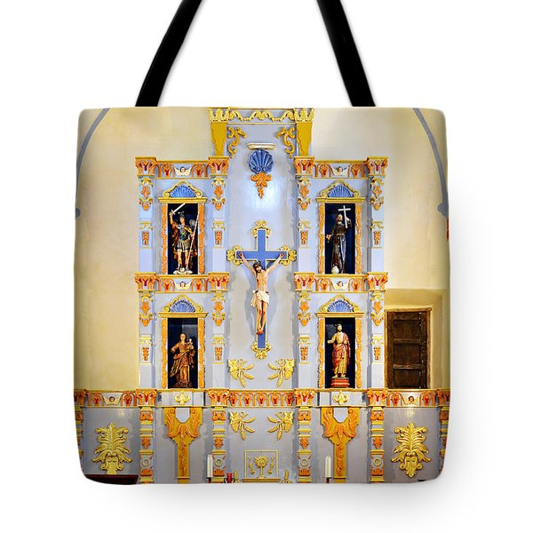 Retablo Mission San Jose Tote Bag by Christine Till