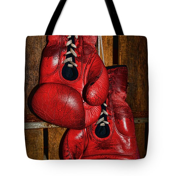 Retired Boxing Gloves Tote Bag by Paul Ward