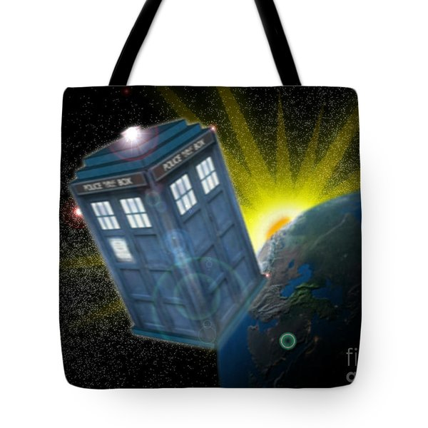 Return Of The Time Lord. Tote Bag by Ian Garrett