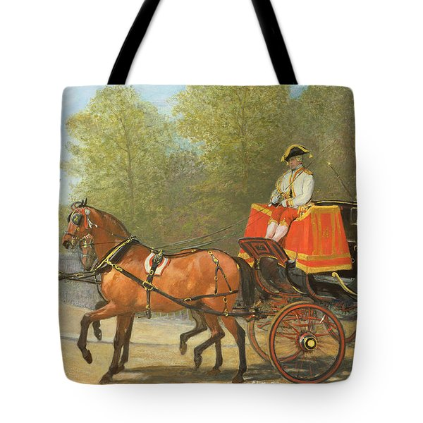 Returning From Her Majestys Drawing Room Tote Bag by Alfred Corbould