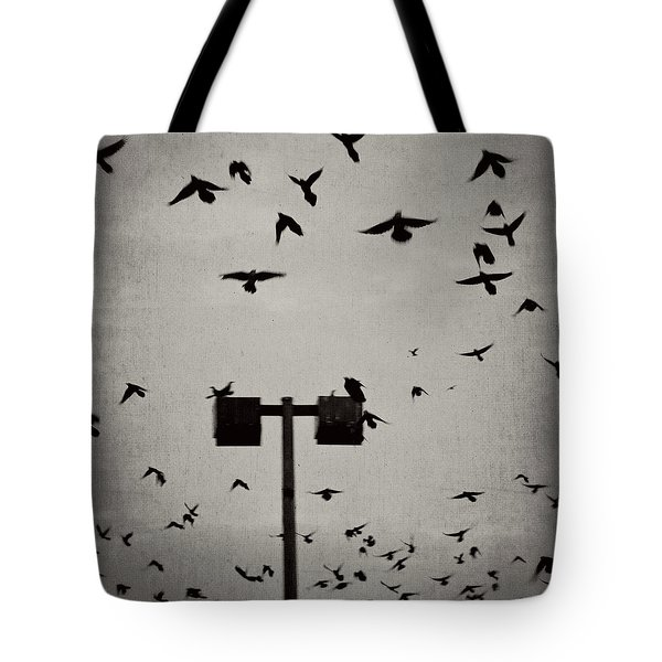Revenge Of The Birds Tote Bag by Trish Mistric