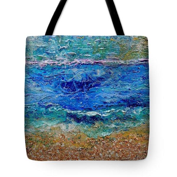 Rhapsody On The Sea Tote Bag by Regina Valluzzi