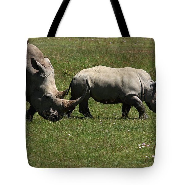 Rhinoceros Tote Bag by Aidan Moran
