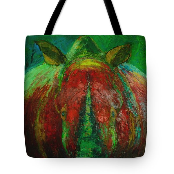 Rhinocerus Tote Bag by Magdalena Walulik