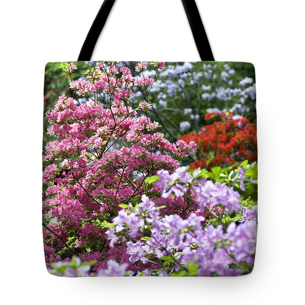 Rhododendron Garden Tote Bag by Frank Tschakert