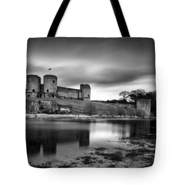 Rhuddlan Castle Tote Bag by Dave Bowman