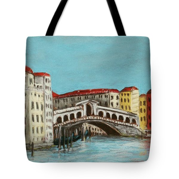 Rialto Bridge Tote Bag by Anastasiya Malakhova
