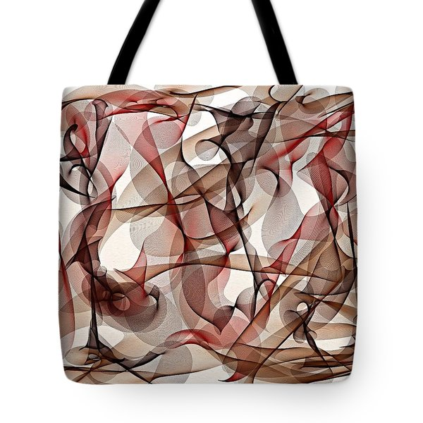 Ribbons Of Life Tote Bag by Marian Palucci-Lonzetta