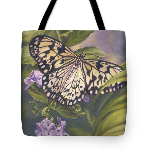 Rice Paper Butterfly Tote Bag by Lucie Bilodeau