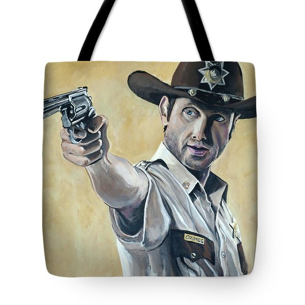Rick Grimes Tote Bag by Tom Carlton