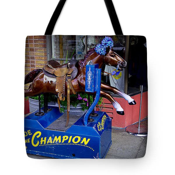 Ride The Champion Tote Bag by Garry Gay