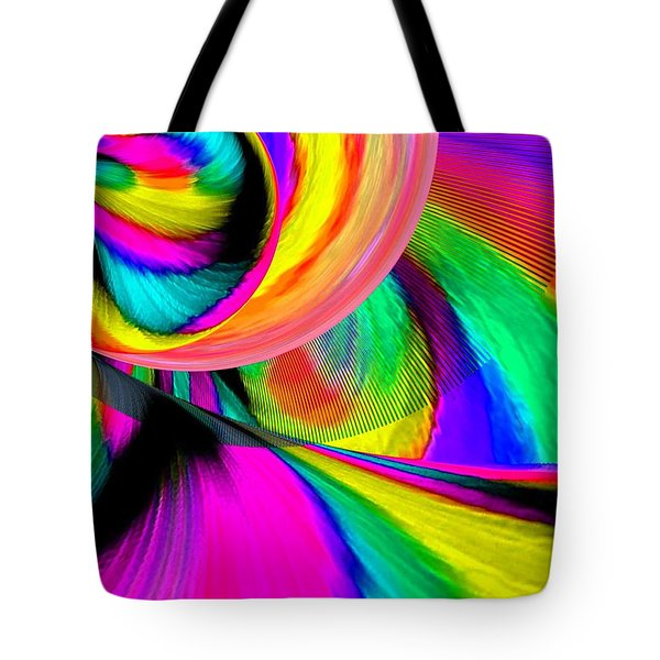 Ride The Rainbow Tote Bag by Annie Zeno