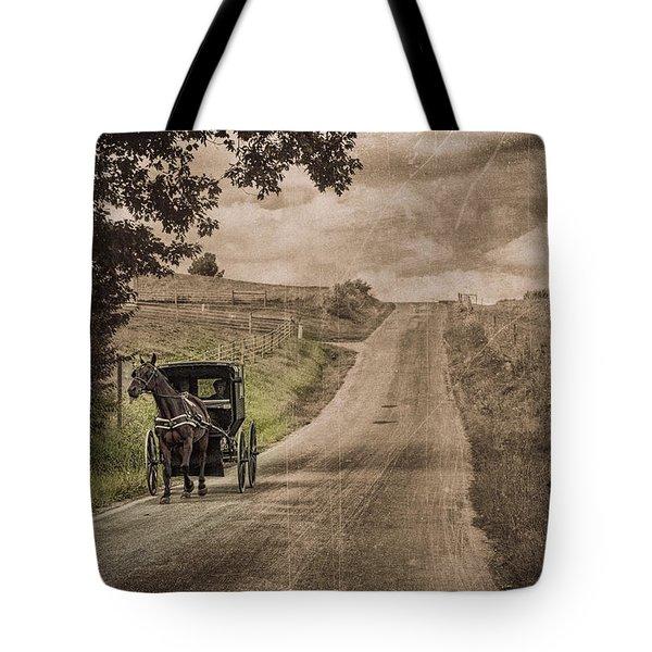 Riding Down A Country Road Tote Bag by Tom Mc Nemar