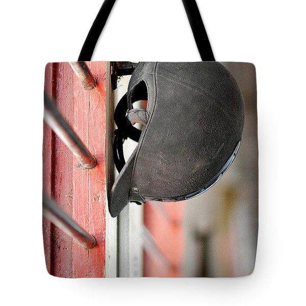 Riding Helmet Tote Bag by Lisa Phillips
