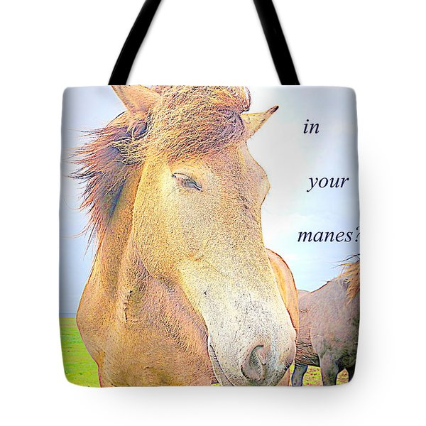 riding the whirlwind Tote Bag by Hilde Widerberg