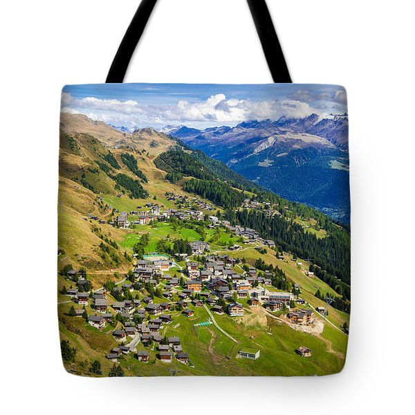 Riederalp Valais Swiss Alps Switzerland Europe Tote Bag by Matthias Hauser