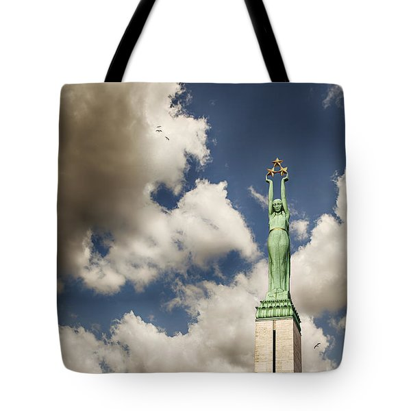 Riga Freedom Monument Tote Bag by Sophie McAulay