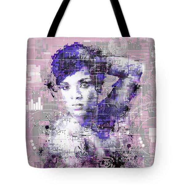 Rihanna 3 Tote Bag by Bekim Art