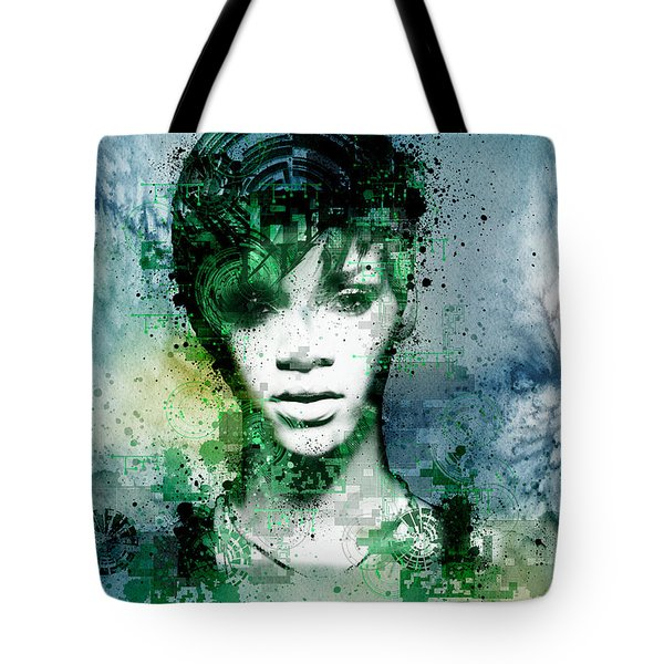 Rihanna 4 Tote Bag by Bekim Art