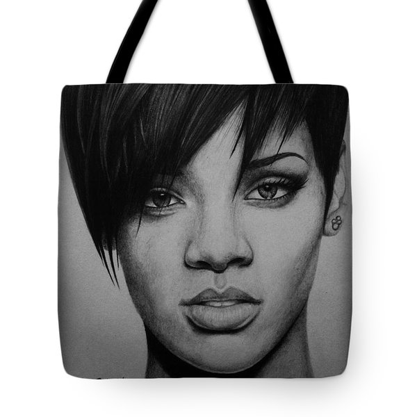 Rihanna Tote Bag by Carlos Velasquez Art