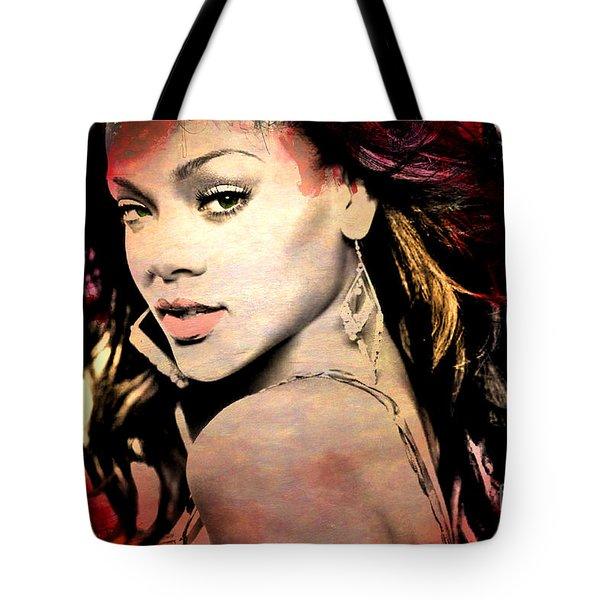 Rihanna Tote Bag by Mark Ashkenazi