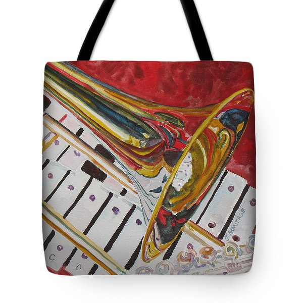 Ringing In The Brass Tote Bag by Jenny Armitage