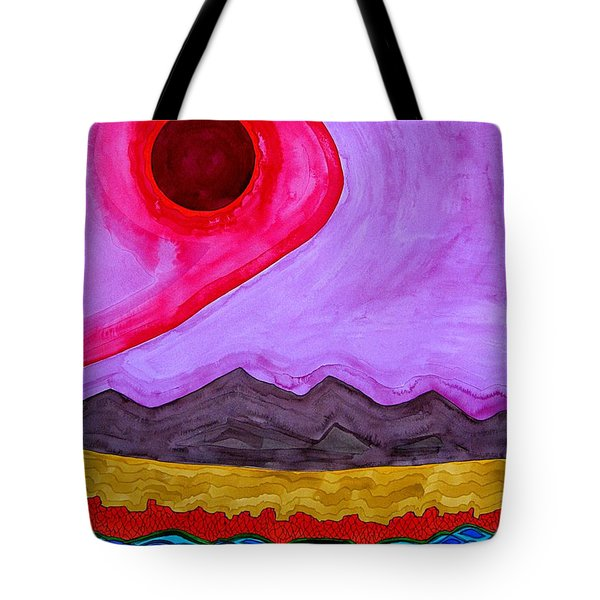 Rio Grande Gorge Original Painting Tote Bag by Sol Luckman
