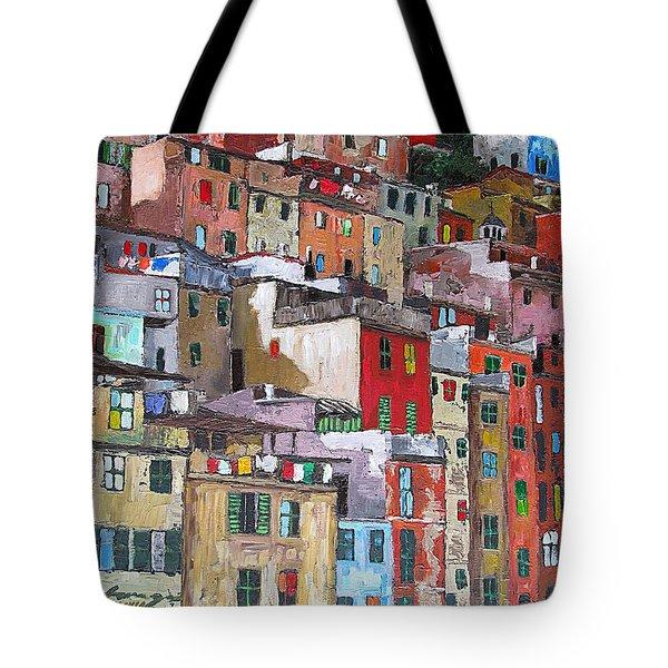 Riomaggiore - Cinque Terre - Italy Tote Bag by Dan Haraga